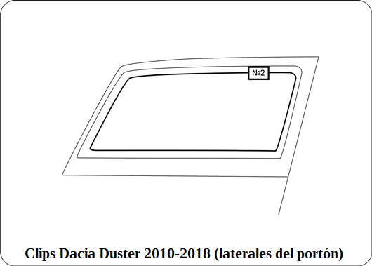 parasol a medida Dacia Duster 2010-2018 (laterales traseras)as)