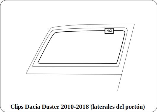Clips Dacia Duster 2010 2018 laterales del porton
