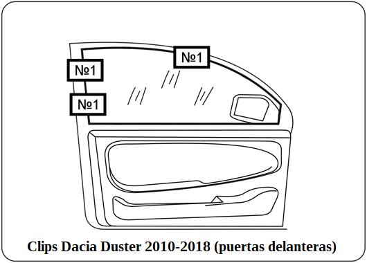 parasol a medida Dacia Duster 2010-2018 (puertas delanterast)ras)