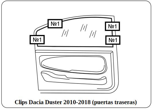 parasol a medida Dacia Duster 2010-2018 (puertas traseras)