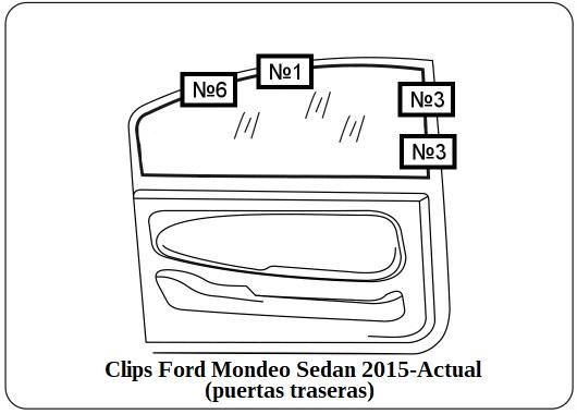 parasol a medida Ford Mondeo Sedan 2015-Actual (puertas traseras)