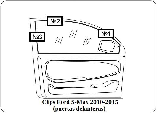 parasol a medida Ford Mondeo Sedan 2015-Actual (puertas delanteras)