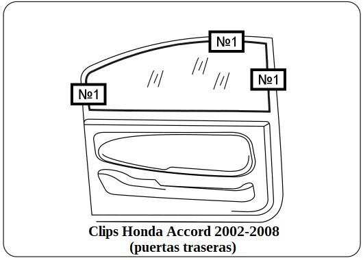 parasol a medida honda accord 2002-2008 (puertas traseras)