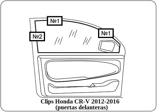 parasol a medida honda cr-v 2012-2016 (puertas delanteras)