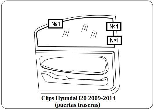parasol a medida hyundai i20 2009-2014
