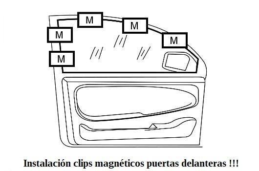 Instalación clips magnéticos puertas delanteras opel insignia