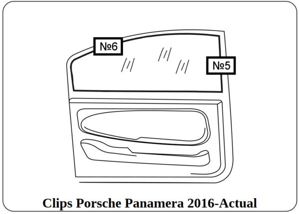 parasol a medida con clips porsche panamera 2016-actual
