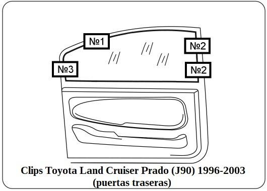 parasol a medida toyota land cruiser prado (J90) 1996-2003