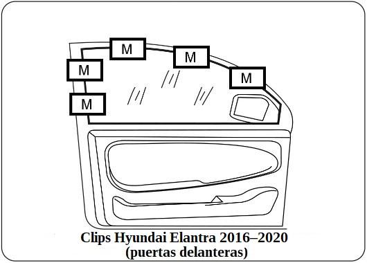 parasol a medida hyundai elantra 2016–2020