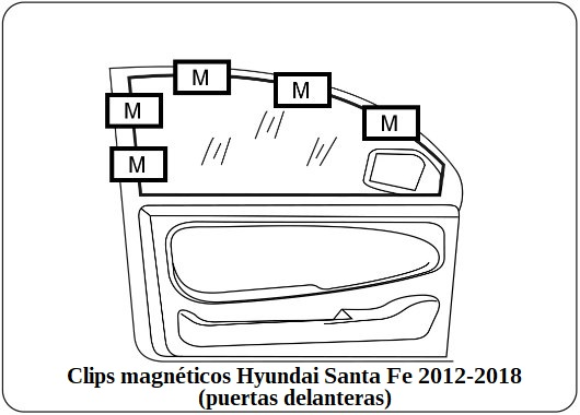 parasol a medida hyundai santa fe 2012-2018