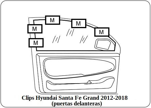 parasol a medida hyundai santa fe grand 2012-2018