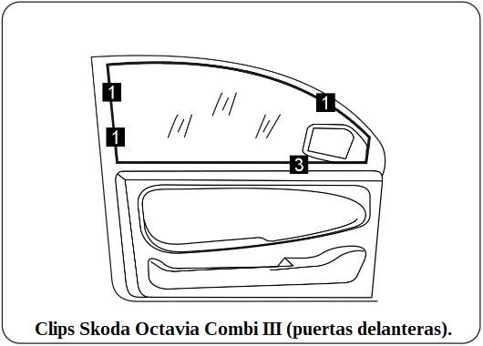 clips skoda octavia combi III puertas delanteras.