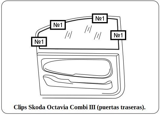 clips skoda octavia combi III puertas traseras.